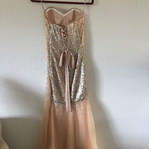 Dresses & Skirts - sequin transparent strapless corset prom dress